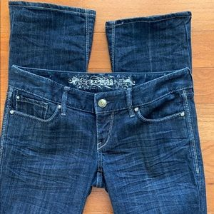 """Express Barely Boot Jeans - 4R/ 32"""" inseam"""